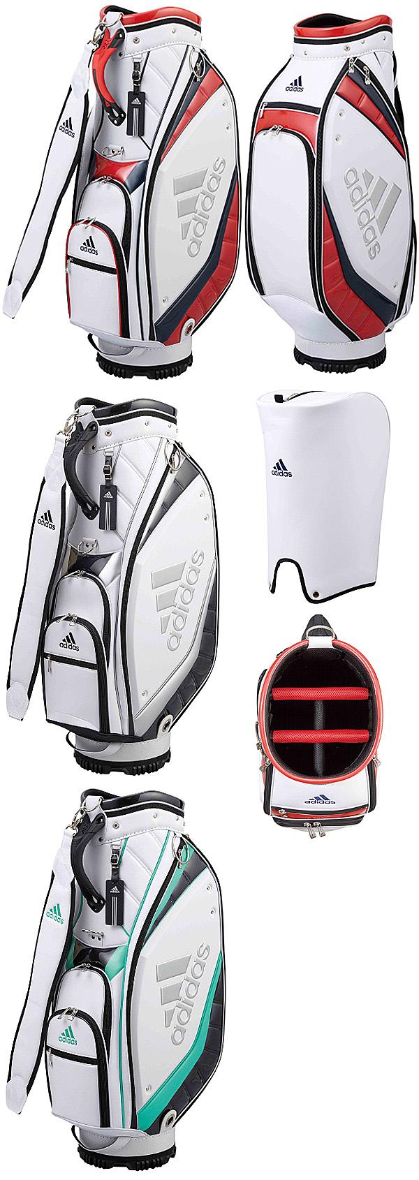 215a673f19 Adidas Golf Japan 2018 Spring Summer SILVER Logo Caddie Cart Bag - Golf  Japan - Pro Golf Japan