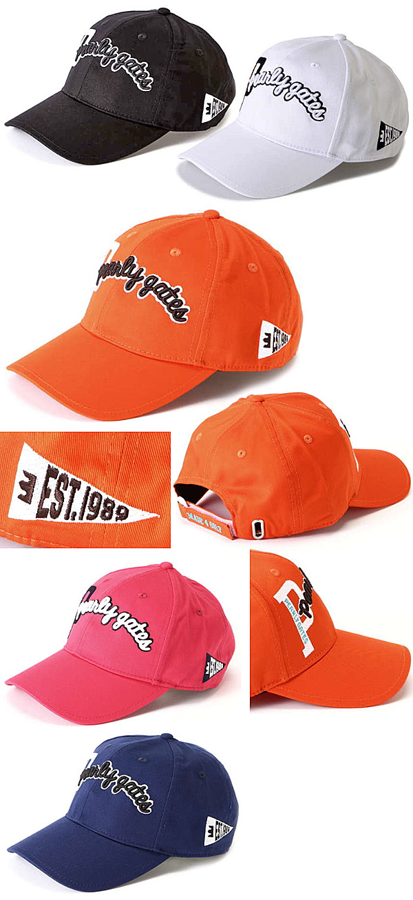 c0a65836a3e Pearly Gates 2018 Cotton Twill Logo Cap - Golf Japan - Pro Golf Japan