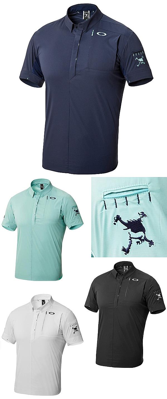 a66b787b0 OAKLEY 2018 Spring Summer Skull SPREAD WOVEN Short Sleeves Polo Shirt - Golf  Japan - Pro Golf Japan